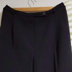 Black trousers SAN FRANCISCO Pleat high-waisted